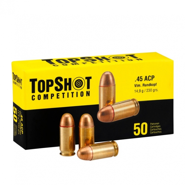 TOPSHOT Competition, .45 ACP FMJ 230grs.