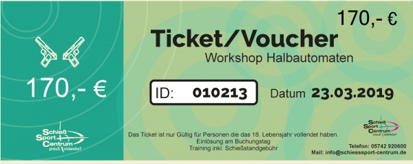Workshop Repetierer & Halbautomaten 100m    21.+ 22.09.2019  10.00-16.00Uhr
